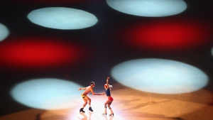 Paul Poirier and Piper Gilles perform during the Gala Exhibition of the ISU Grand Prix of Figure Skating Trophee, Paris
