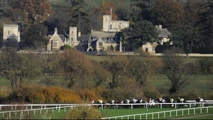 Runners race down the bottom of the track during The Paddy Power Intermediate Handicap Hurdle at Cheltenham racecourse
