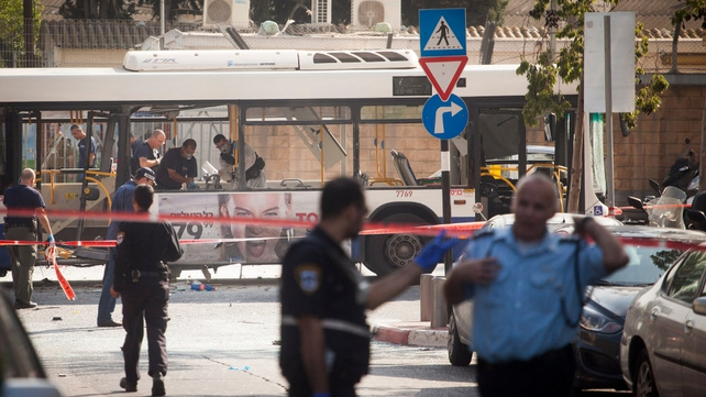 15 people were wounded in Wednesday's bus bomb