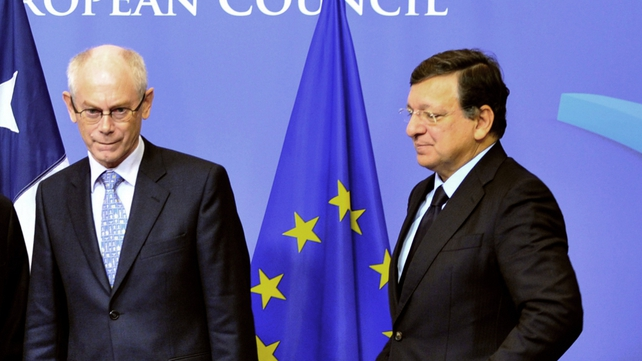 Herman Van Rompuy (L) and José Manuel Barroso will hold 'confessionals' with EU leaders