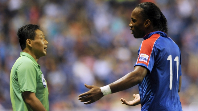 Shanghai Shenhua's Didier Drogba has had a transfer request turned down by FIFA