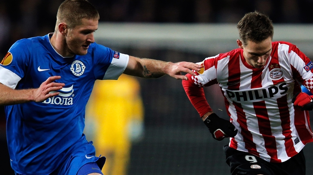Dnipro are through after their 2-1 away win at PSV