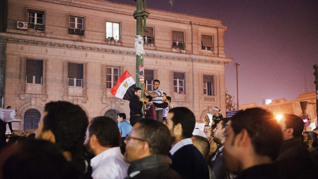Supporters of Mohammed Mursi gathered outside the high court in Cairo to welcome the decree