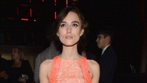 Knightley is the face of Chanel's Coco Mademoiselle perfume campaign