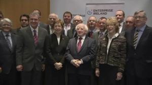 President Michael D Higgins was guest of honour at the Enterprise Ireland organised business breakfast
