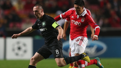 Brown was substituted in the loss to Benfica suffering from cramp