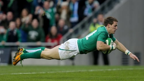 Craig Gilroy started where he left off against Fiji by opening the scoring at Aviva on 12 minutes