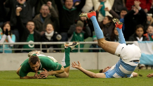 Tommy Bowe scored tries number 25 and 26