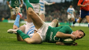 Tommy Bowe was quickest on to Jonathan Sexton's kick for the first try of the second half
