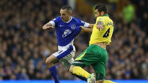 Everton looked on course for three points but Sebastien Bassong punished the home side in the 90th minute
