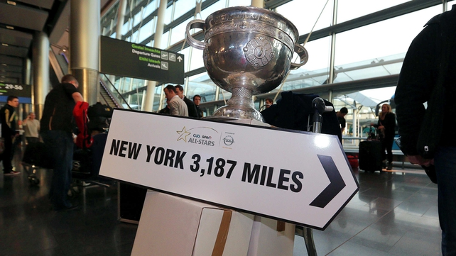 GAA President Liam O'Neill has said a competitive match in New York would be fitting of their contribution to the sport