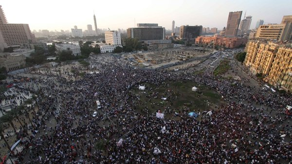 There have been protests in Cairo against the president's move