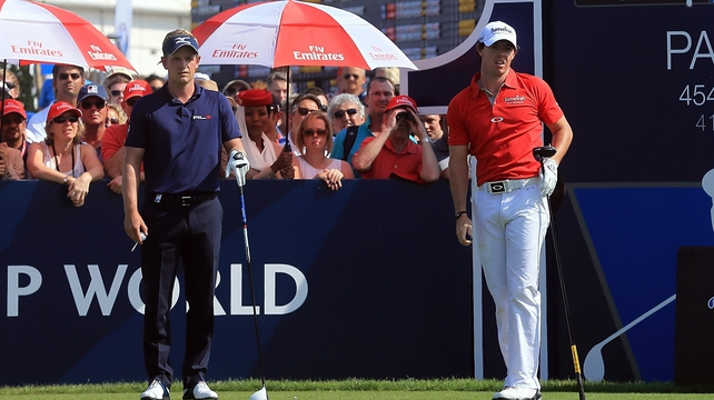 McIlroy (r) found himself two down after two but recovered to lead by one after nine