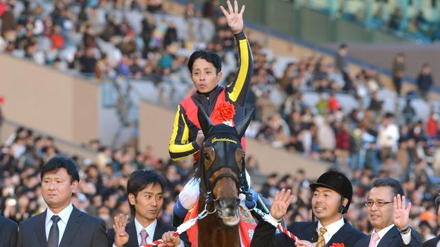 Yasunari Iwata celebrates on Gentildonna
