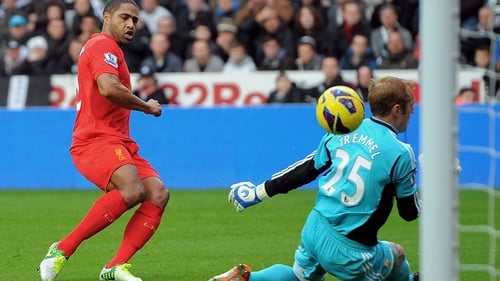 Glen Johnson had the best chance in the early stages of Liverpool's game against Swansea