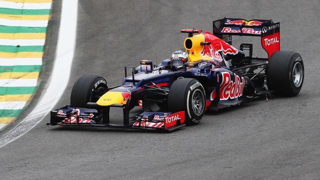 Sebastian Vettel in action at the Brazilian Grand Prix