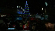 Dublin Lord Mayor turns on Christmas tree lights on O'Connell Street