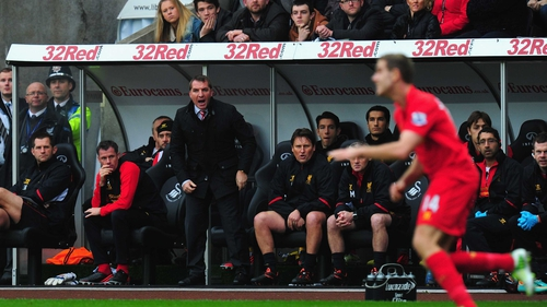 Brendan Rodgers will take charge of Liverpool for his 50th game tomorrow