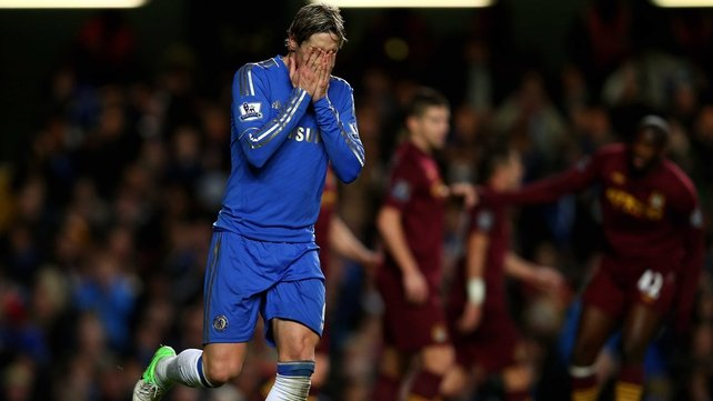 Fernando Torres' nightmare run in front of goal continued at Stamford Bridge yesterday