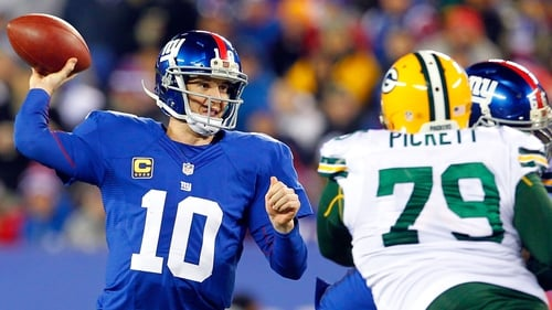 Manning helped the Giants to a 38-10 win over Green Bay
