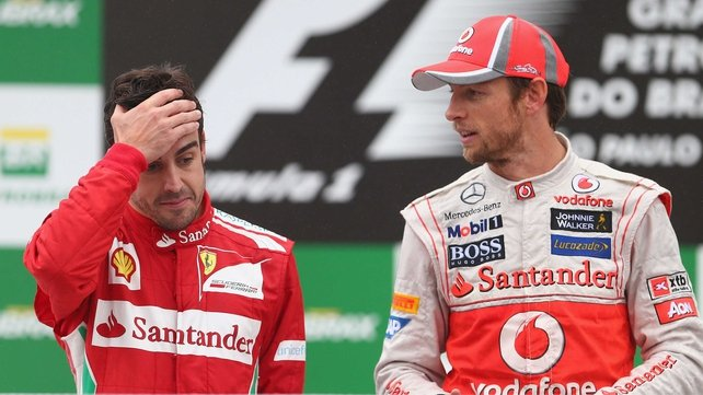 Fernando Alonso and Jenson Button were pipped by Sebastien Vettel this season