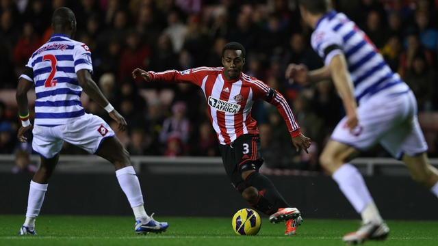 anny Rose of Sunderland attempts to move past QPR's Samba Diakite
