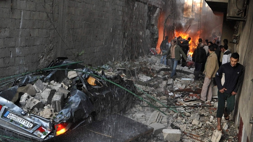 Two explosions have hit Damascus