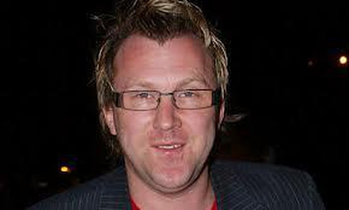 Irish comedian Jason Byrne in studio with John