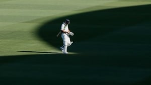 Ricky Ponting of Australia leaves the field after getting out during day three of the second Test match between Australia and South Africa at Adelaide Oval