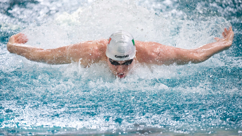 Ireland's Barry Murphy in action during the men's 50m butterfly semi-finals at the European Short Course Swimming Championships