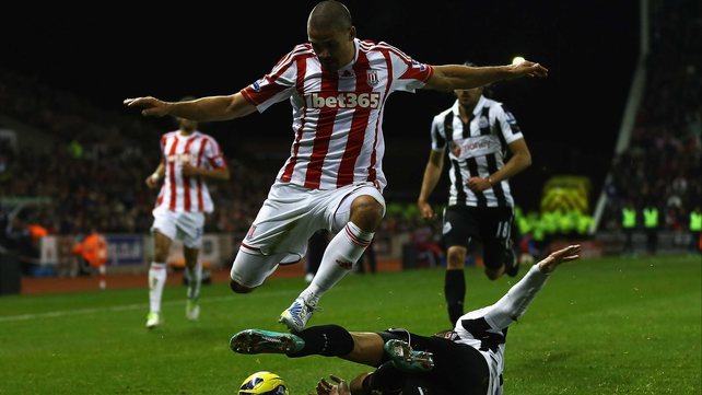 Jonathan Walters was on the mark for Stoke