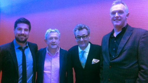Craig Doyle, Louis Walsh, Greg Proops and Greg Davies