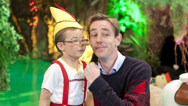 Ryan Tubridy with Dylan O'Connor aka Pinocchio