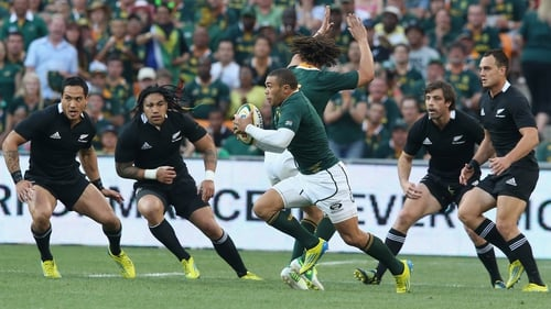 Bryan Habana is seventh in the all-time list of leading rugby union Test try scorers with 47