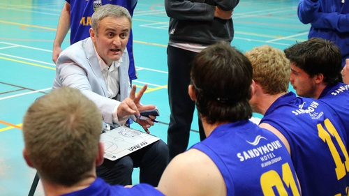 Sasa Punosevac directs his UCD Marian players