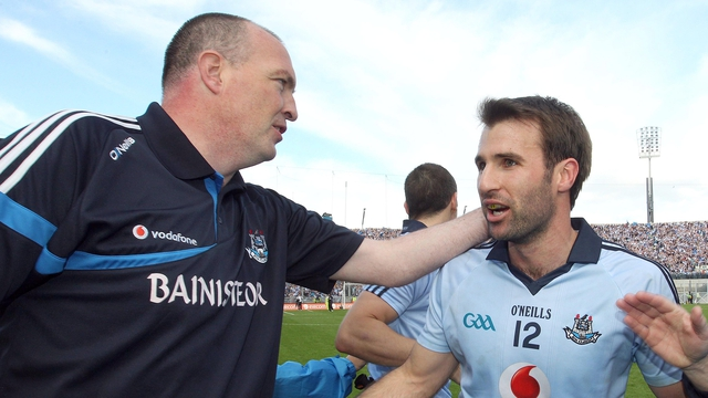 Cullen with former Dublin football manager Pat Gilroy