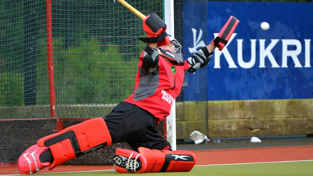 Ireland's centurion David Harte kept a clean sheet in goal