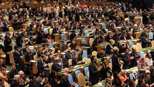 Palestinian President gets standing ovation by United Nations general assembly