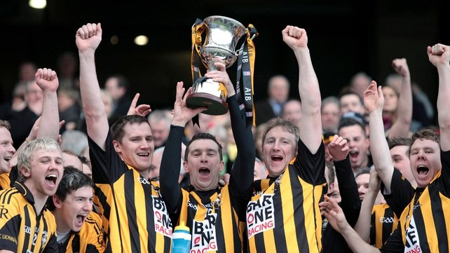Oisín McConville celebrates winning the 2012 All-Ireland club title with Crossmaglen