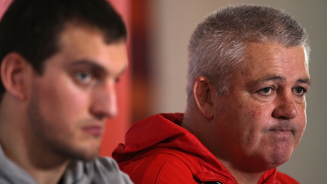 Sam Warburton and Lions head coach Warren Gatland in November