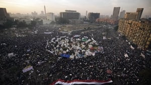 Tens of thousands of protesters gather in Cairo's landmark Tahrir square