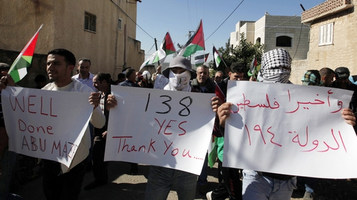 Palestinians in the West Bank have protested against the plan