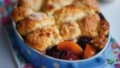 Big Do's peach and blackberry cobbler