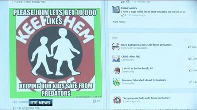 Facebook ordered to shut down paedophile page