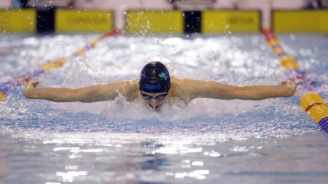 Jack Cobain swims the 100m butterfly