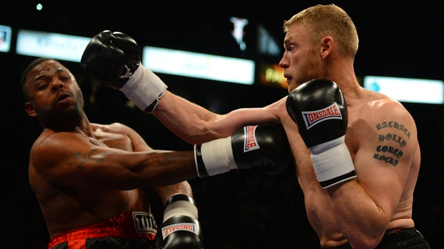 Andrew Flintoff was successful in his boxing debut