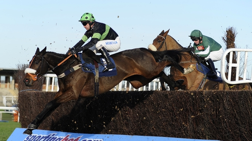 Timmy Murphy riding Harry Topper on the way to winning The GPG Novices' Steeple Chase at Newbury earlier in the week