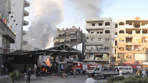 Damascus has been rocked by car bombs and air strikes