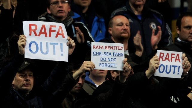 Rafael Benitez has been fighting an uphill battle to win Chelsea fan support