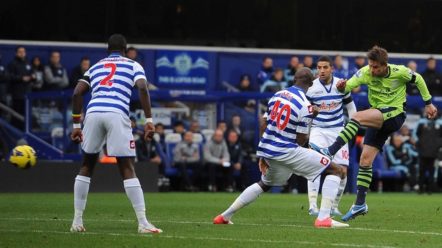 Brett Holman gave Aston Villa an early lead at Loftus Road